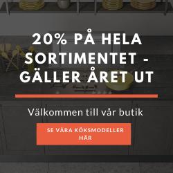 20% PÅ HELA SORTIMENTET - GÄLLER ÅRET UT